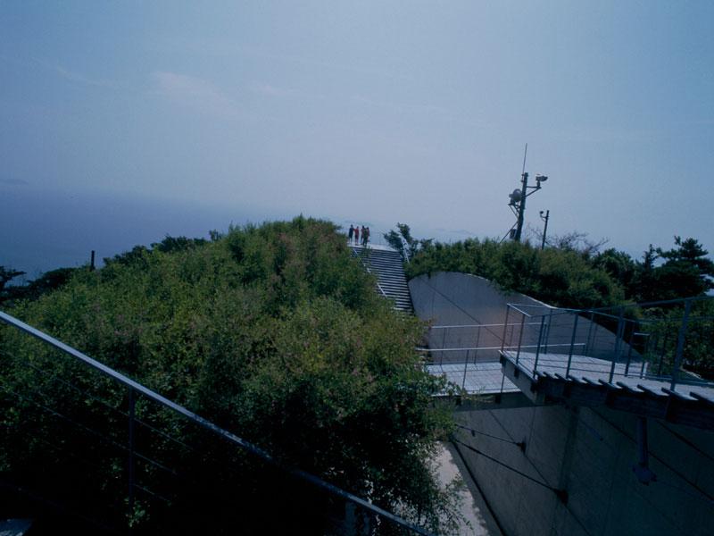 kiro san observatory 亀老山展望台 architecture kengo kuma and