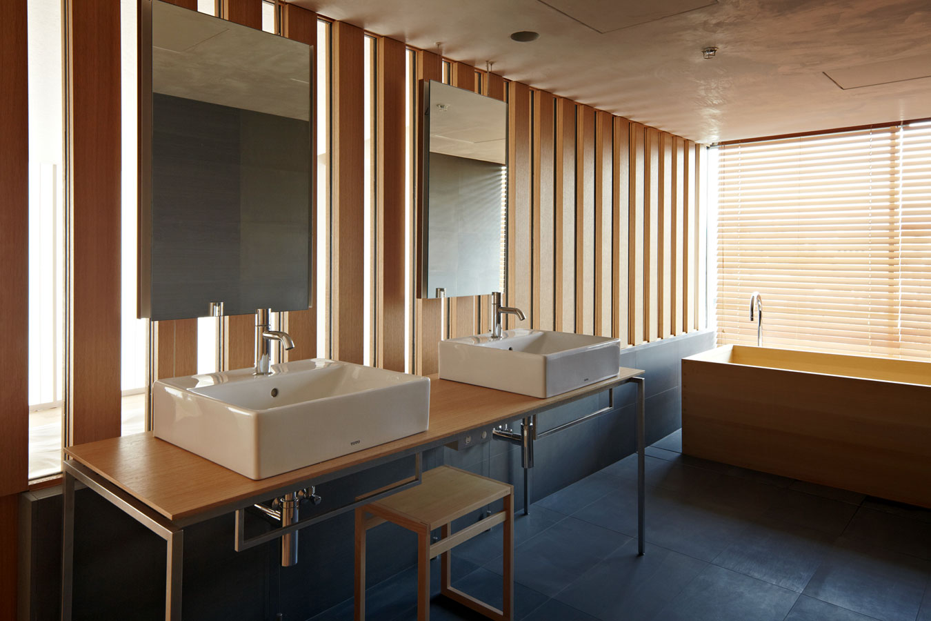 Kyoto kokusai hotel model room architecture kengo kuma and associates Japanese bathroom interior design