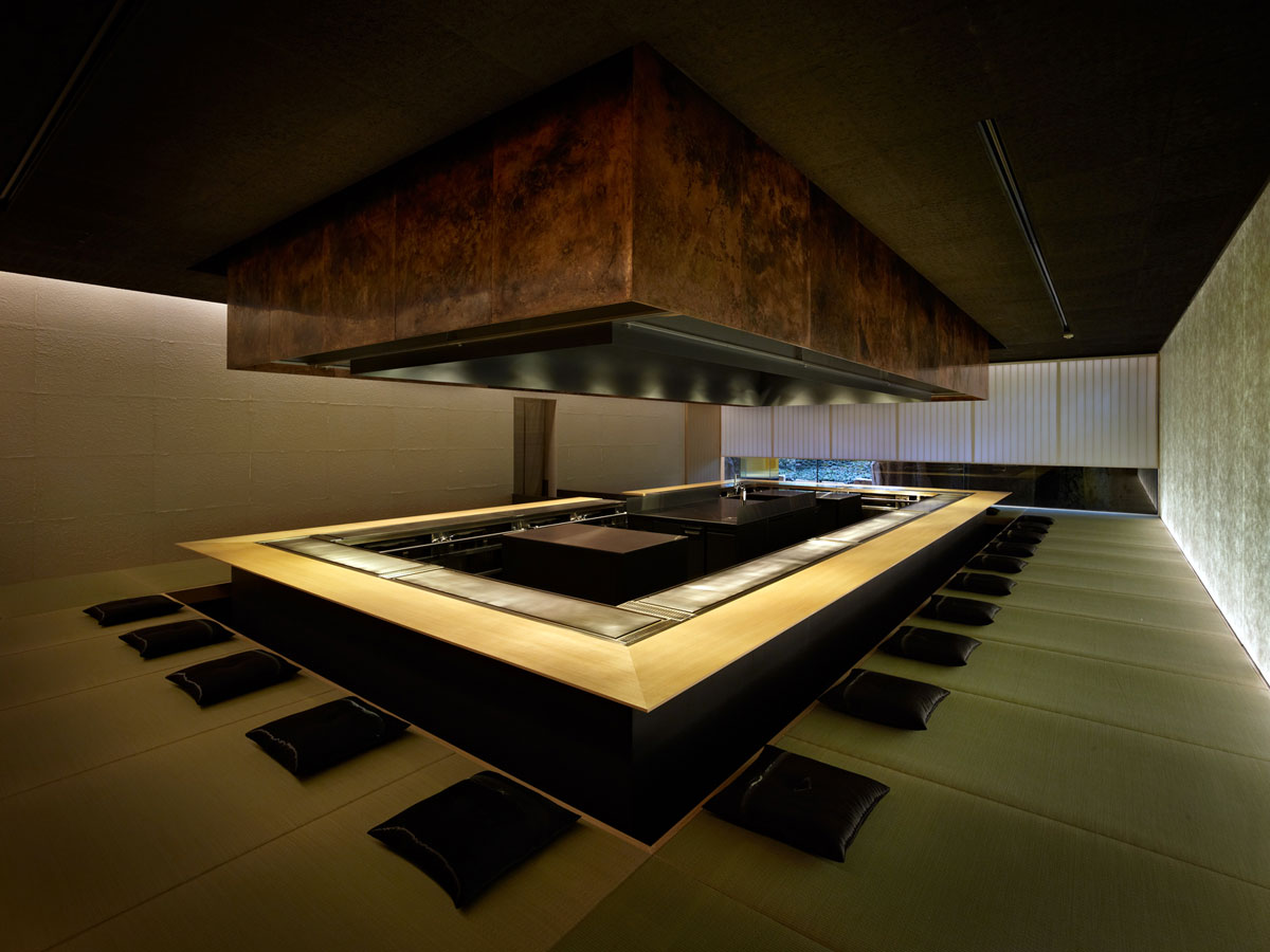 kyoto kokusai hotel steak house omi architecture kengo kuma and associates. Black Bedroom Furniture Sets. Home Design Ideas