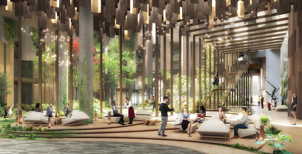 1hotel paris architecture kengo kuma and associates for Design hotel parigi